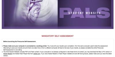 PALS pre-assessment